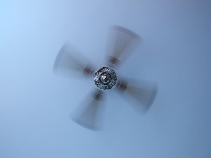 ceiling fan; night sweats